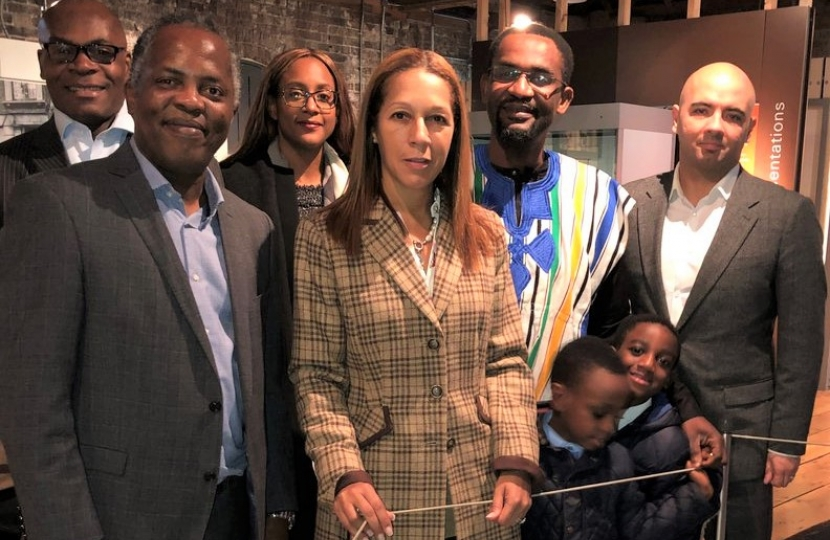 Helen Grant MP at the Museum of London with representatives from Conservative Friends of the Caribbean and Conservative Friends of Africa