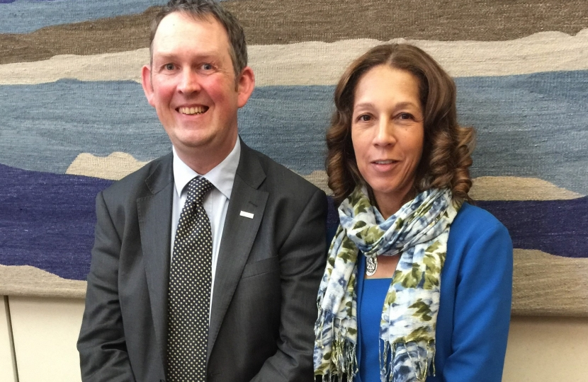 Helen Grant MP meets rail minister Paul Maynard