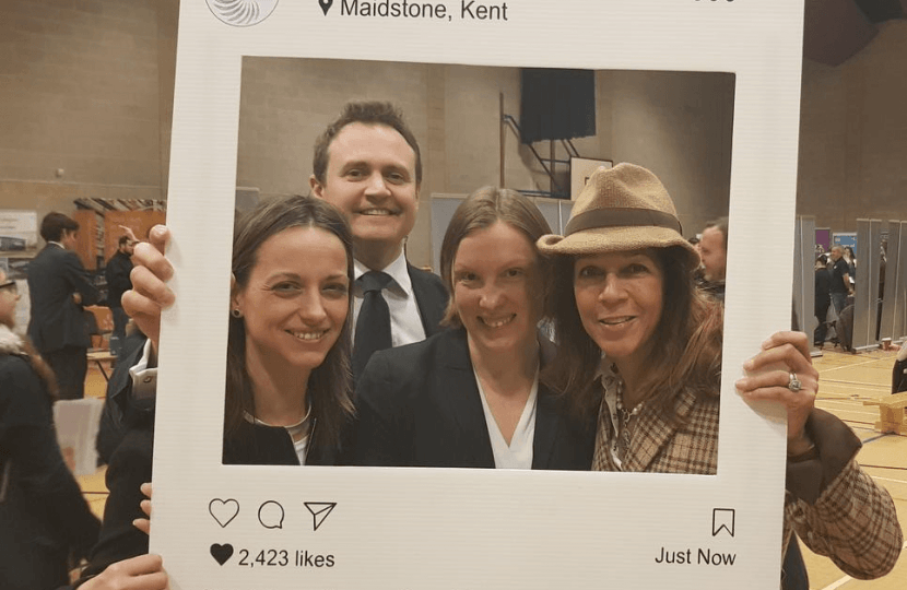 From L-R: MPs Helen Whately, Tom Tugendhat, Tracey Crouch and Helen Grant at the Maidstone Apprenticeship Fair.