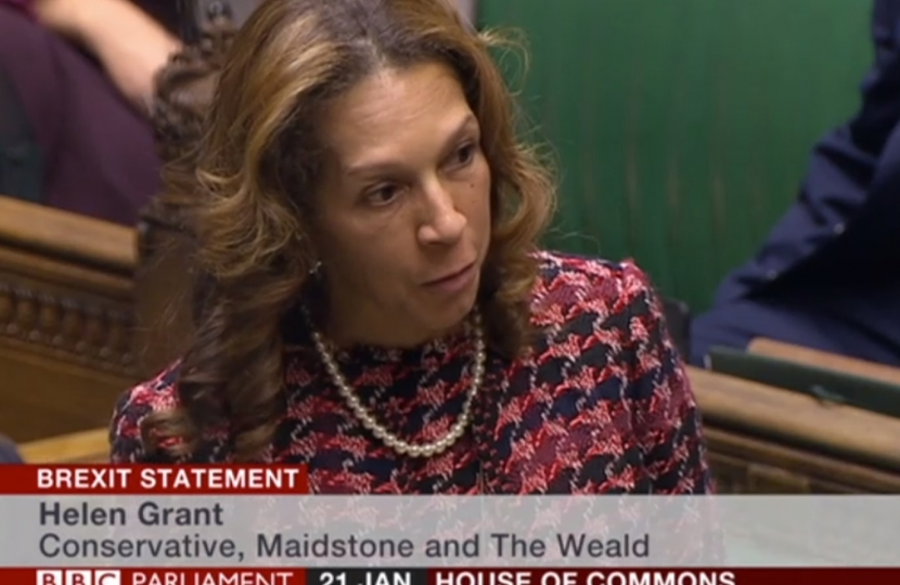Helen speaking in the House of Commons