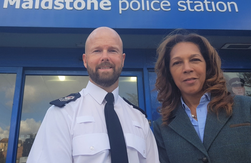 Helen at Maidstone Police Station for Gang and Knife Crime Roundtable