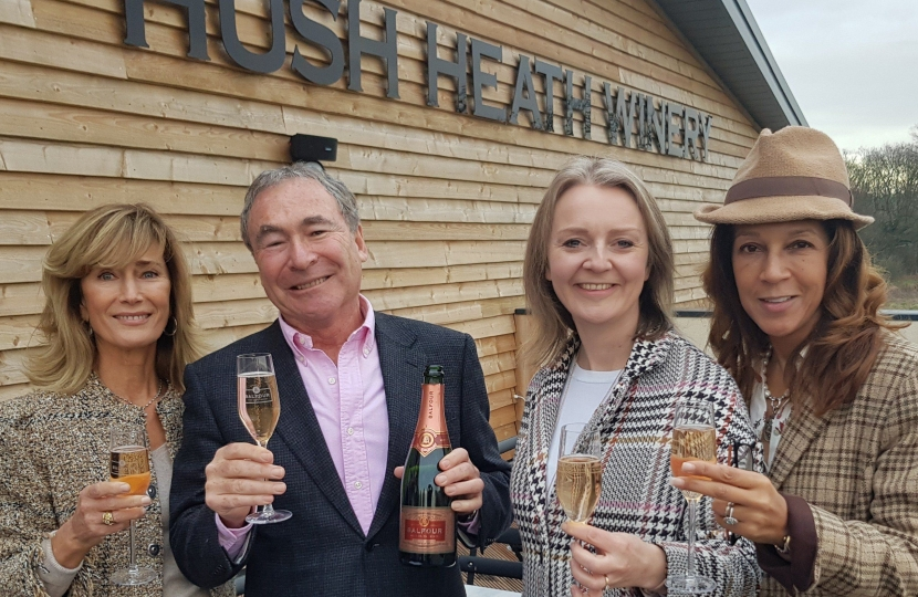 Helen Grant at Hush Winery with International Trade Secretary Liz Truss