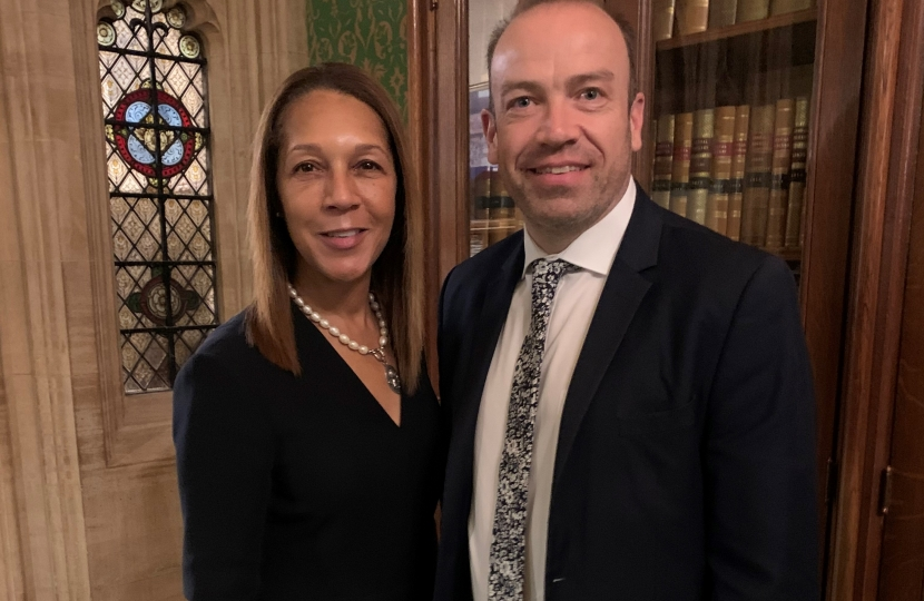 Helen Grant with Chris Heaton Harris ahead of his visit to Maidstone