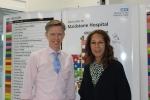 Helen with Maidstone and Tunbridge Wells NHS Trust CEO Miles Scott at Maidstone Hospital
