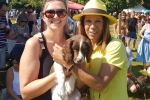 Helen Grant MP with Ramona and 'Daisy' at Sissinghurst dog show