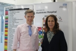Helen Grant with Miles Scott (Chief Executive of Maidstone and Tunbridge Wells NHS Trust)