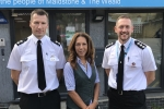 Helen Grant MP with local police chiefs