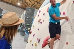 Helen Grant MP and Robert Woods on visit to The Climbing Experience, Maidstone.